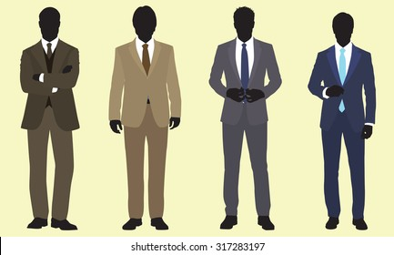Racially Ambiguous Men in Fitted Suits