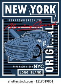 racing art design,vector graphic illustration