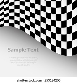 Racing background with checkered flag vector illustration