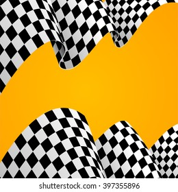 Racing Background  Flag. Vector illustration