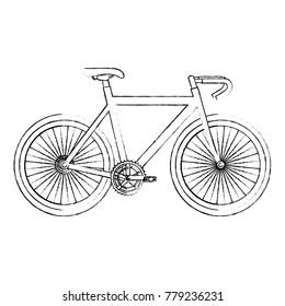 racing bicycle isolated icon