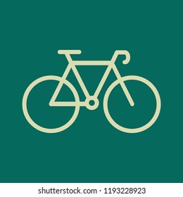 Racing bicycle monoline icon