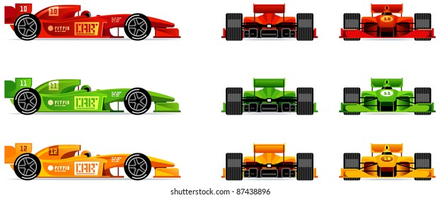 Racing Bolides Set Side Front And Back 43