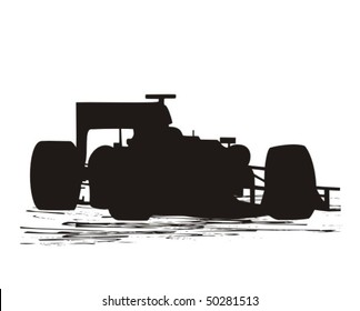 Race Car Silhouette Images Stock Photos Vectors