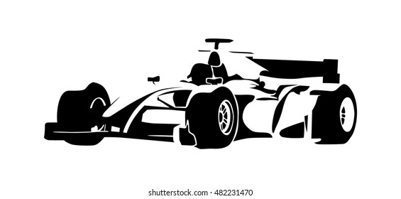 Racing Car Abstract Vector Silhouette Motor Sport