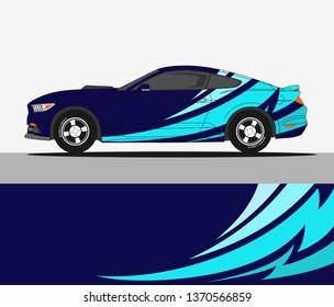 Racing car decals. Sport vehicle vinyl stickers vector set. Vinyl decal sticker for car decoration illustration