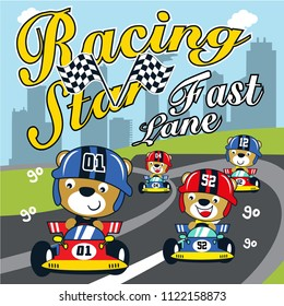 racing car formula vector cartoon