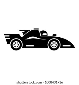 Racing car icon. Simple illustration of racing car vector icon for web