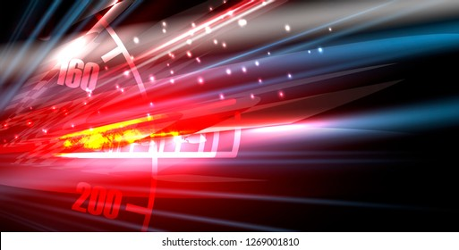 Racing car light in motion vector background
