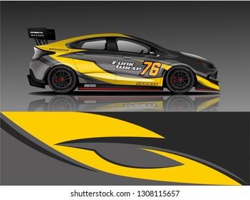 Racing Car Livery. Racing car wrap design. vector eps format for wrap,decal,and sticker.