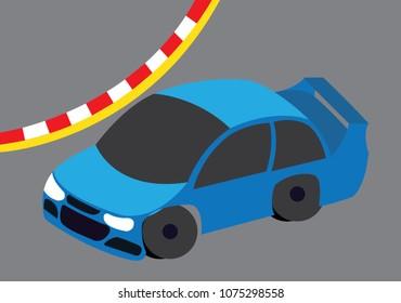 a racing car on a race track