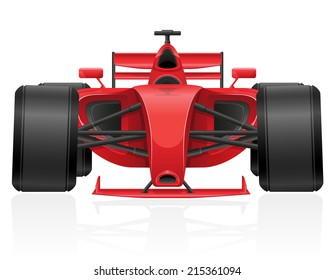 racing car vector illustration EPS 10 isolated on white background