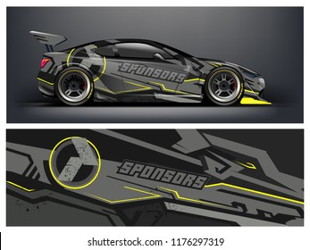 Racing car wrap. Abstract strip for racing car wrap, sticker, and decal. vector eps 10 format.