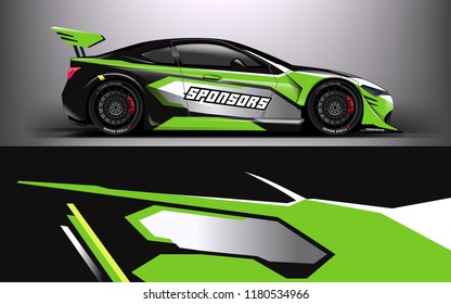 Racing Car Wrap. Decal, sticker abstrack strips