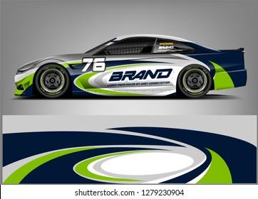 Racing Car Wrap design. Custom racing wrap design. ready print sticker decal vinyl