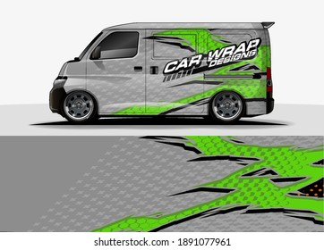 Racing car wrap design vector for vehicle vinyl sticker and automotive decal livery