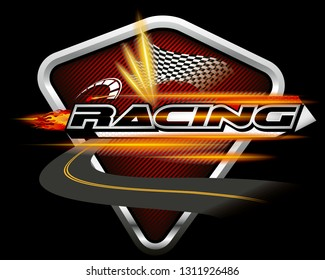Racing Concept Design Vector.