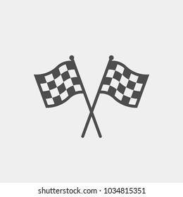Racing flag flat vector icon