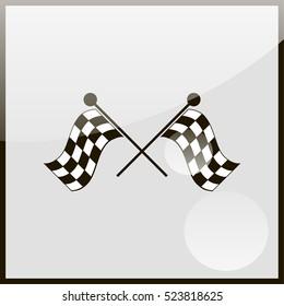 Racing flag icon.