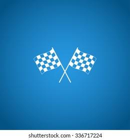 racing flag icon. Flat design style eps 10