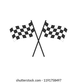 Racing flag icon. Vector illustration, flat design.