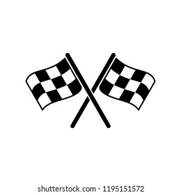 Racing Flag Icon vector. symbol for web site Computer and mobile vector.
