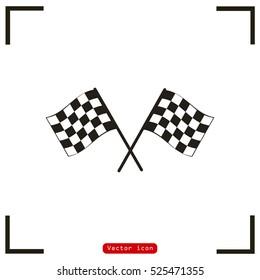 Racing flag vector icon