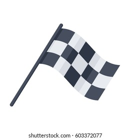 Racing flag, vector illustration in flat style
