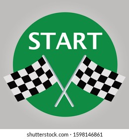 Racing Flags - Start Green Sign