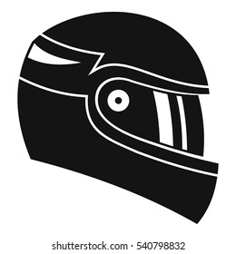 Racing helmet icon. Simple illustration of racing helmet vector icon for web