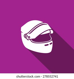 Racing helmet icon. Vector Illustration