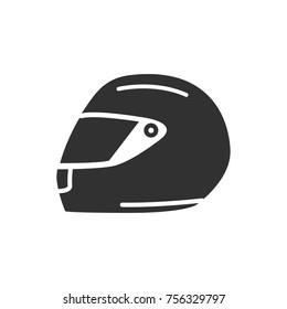 Racing helmet. monochrome icon