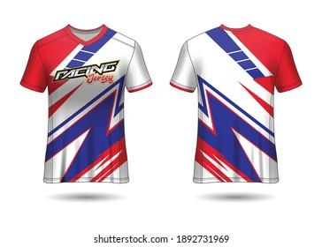Racing Jersey Template Design vector