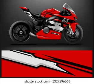 Racing motorcycle wrap design. ready print concept for vinyl wrap and motorcycle decal - Vector - Vector