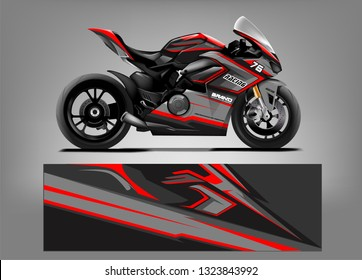 Racing motorcycle wrap vector designs. abstract livery for vehicle vinyl branding