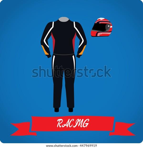 Racing objects, Sport uniform, Vector illustration