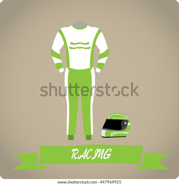 Racing objects, Sport uniform, Vector illustration