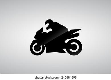 racing pictogram, superbike