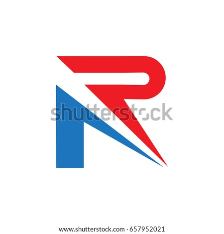 racing r letter logo template