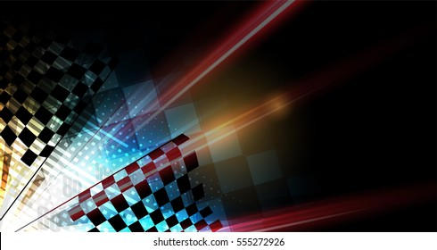 Racing speed background, vector abstraction in car track motion