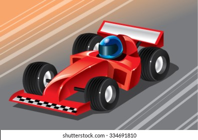 racing sport car vector