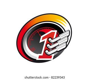 Racing symbol, such a logo. Jpeg version also available in gallery
