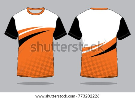 1a4d25403 ... Vector (Royalty Free) 773202226 - Shutterstock. Racing T shirt design ( Orange/White and Black)