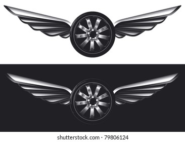 racing tires with glossy wings