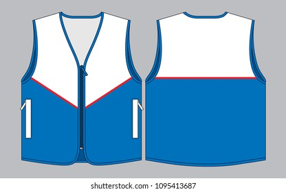 Racing Vest design : Front and Back View