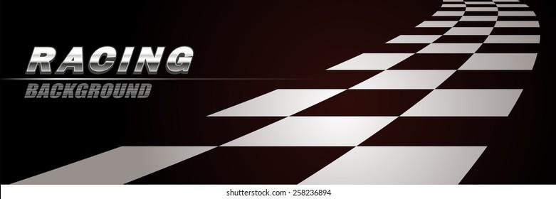 Racing way background vector
