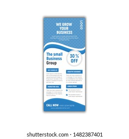 Rack Card Template vector graphic