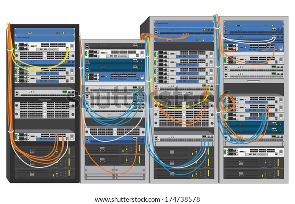Rack System Stock Vector Royalty Free 174738578