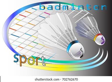 racket badminton brush stroke art
