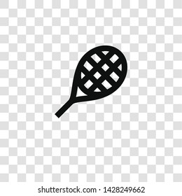 racket icon from miscellaneous collection for mobile concept and web apps icon. Transparent outline, thin line racket icon for website design and mobile, app development